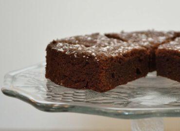 Fudgy cake met choba
