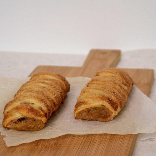 vlechtbroodjes met rabarber
